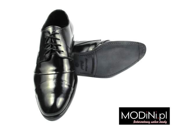 Wygodne czarne eleganckie buty męskie