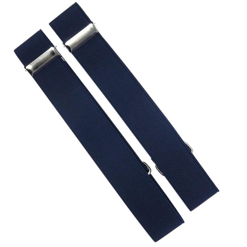 Granatowe opaski do rękawów koszuli X3