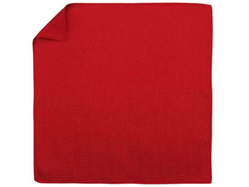 Czerwona jedwabna gładka poszetka EJ26