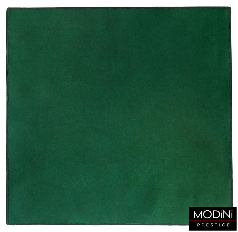 zielona poszetka z obszyciem