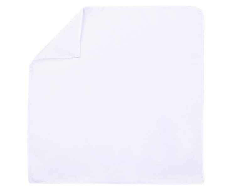 Jedwabna biała poszetka E147
