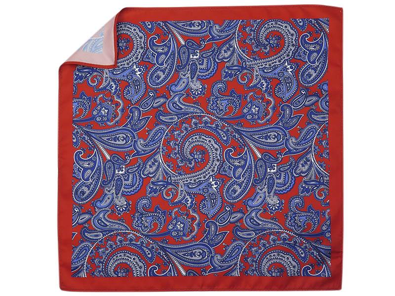 Czerwona poszetka w paisley E222
