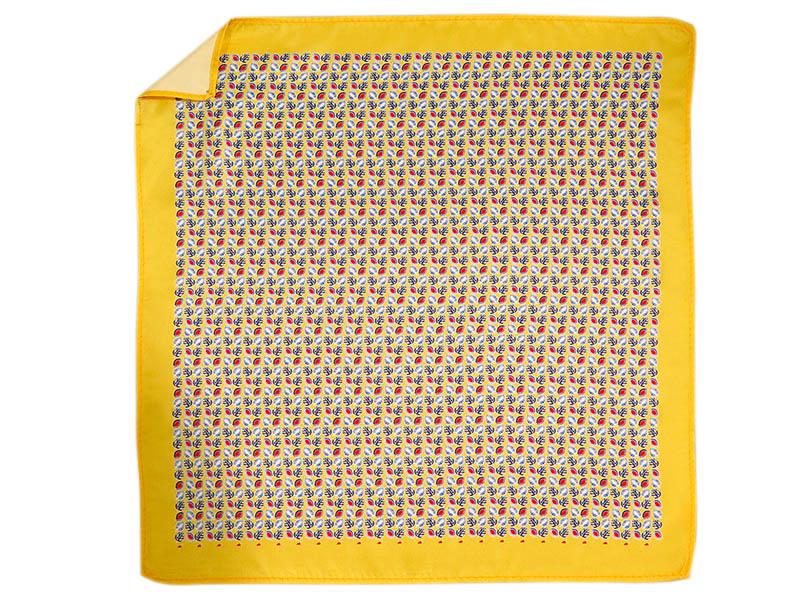 Żółta poszetka w liście E248