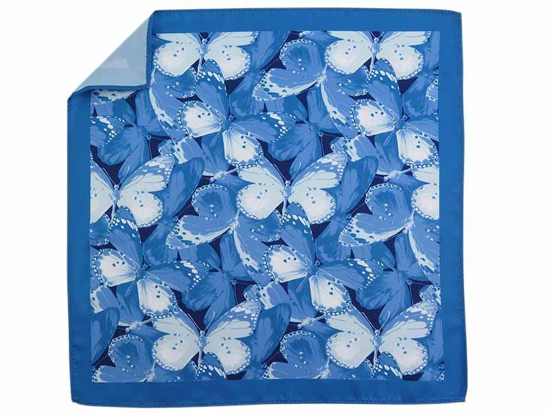 Niebieska poszetka w motyle E270