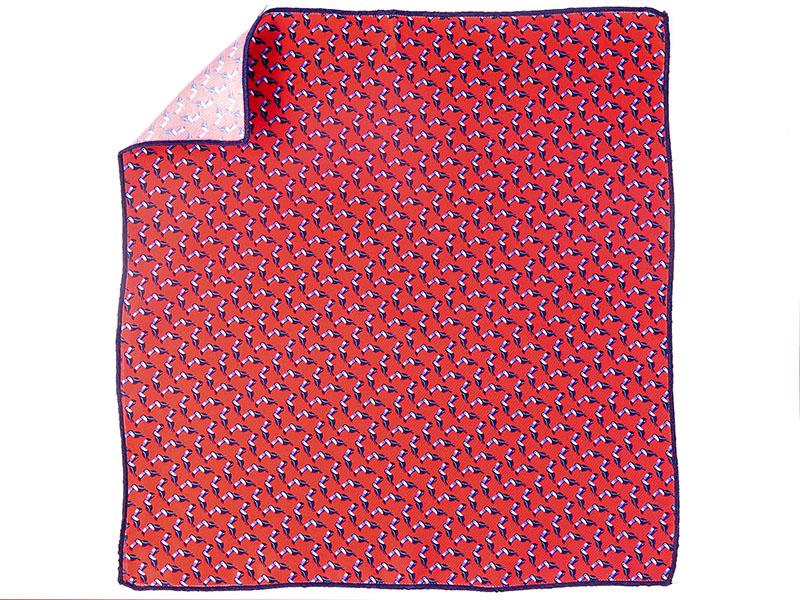 Czerwona poszetka w tukany E151