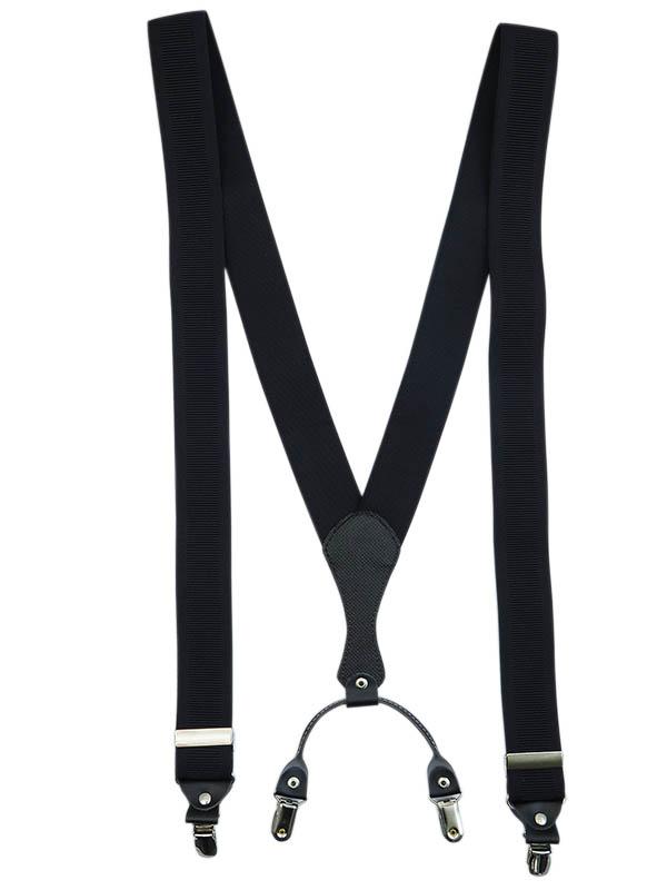 Czarne klasyczne szelki męskie do spodni SZ1