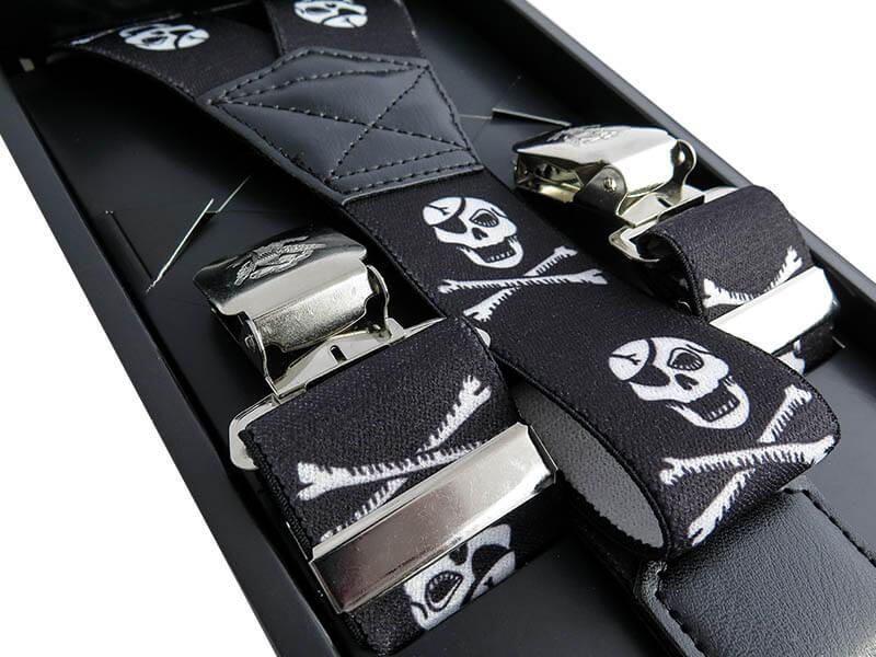 Pirackie czarne szelki do spodni T13 SZ102