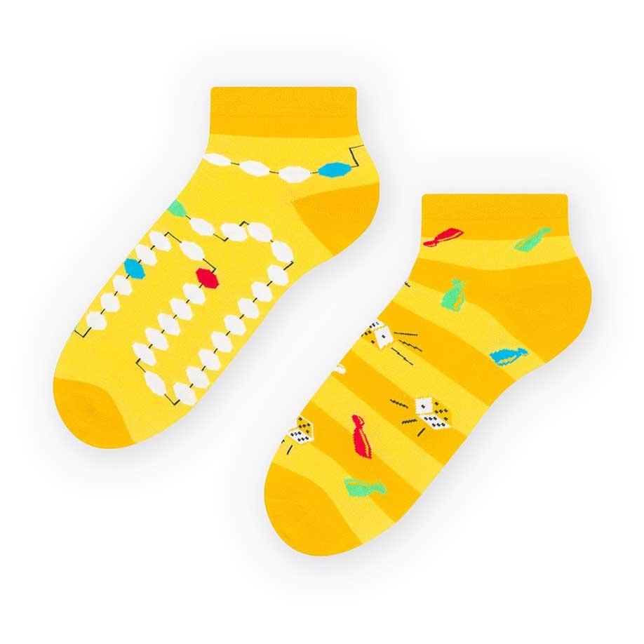 Żółte skarpetki/stopki dla fana planszówek - kości pionki SK236