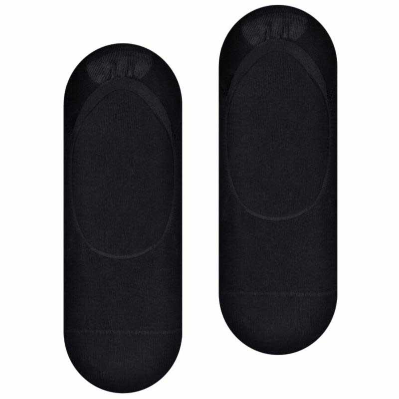 Czarne mocno wycięte skarpetki typu stopki - bambusowe SK246
