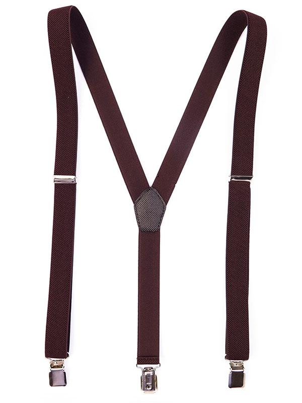 Brązowe Szelki Wąskie Unisex - 2,5cm T21