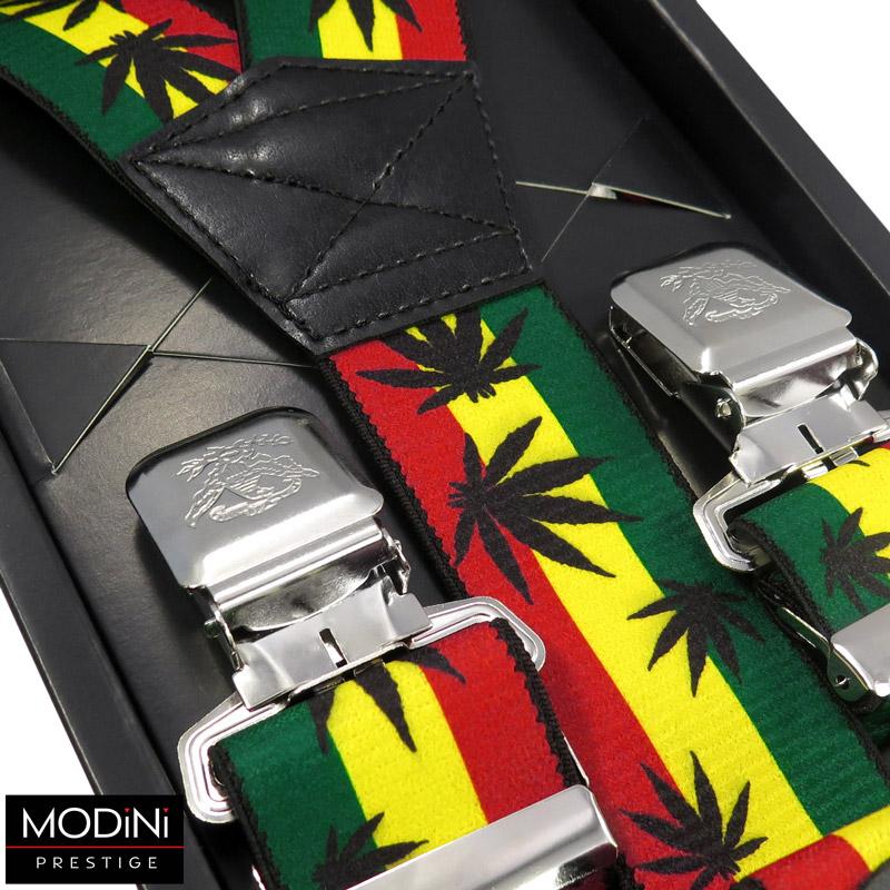 kolorowe szelki z motywem jamajskim