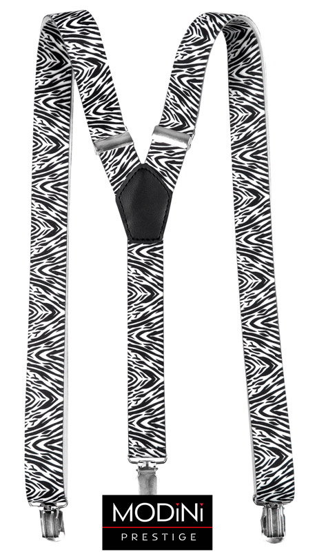 szelki unisex - wzór zebry