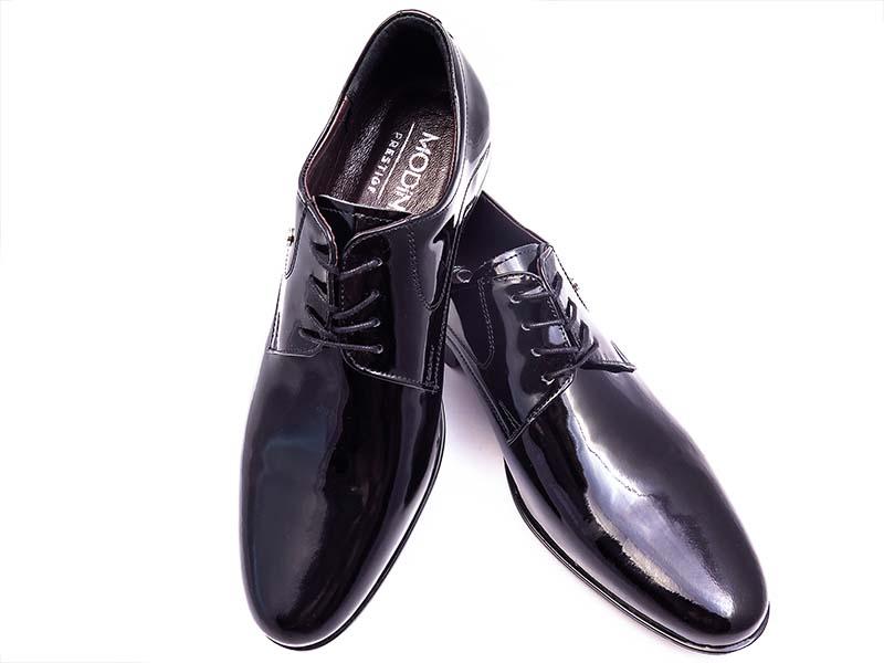 Czarne lakierki - buty wizytowe Modini T93