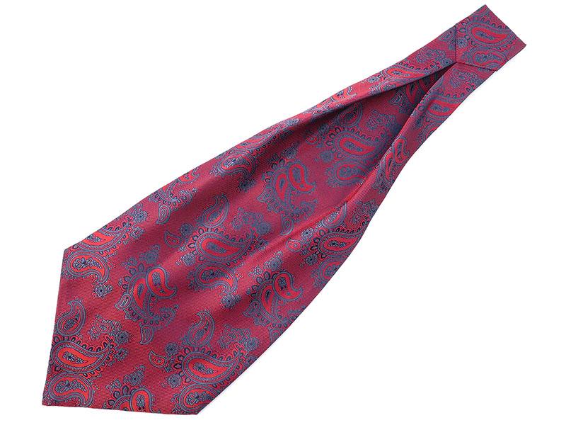 Czerwony fular w paisley F57
