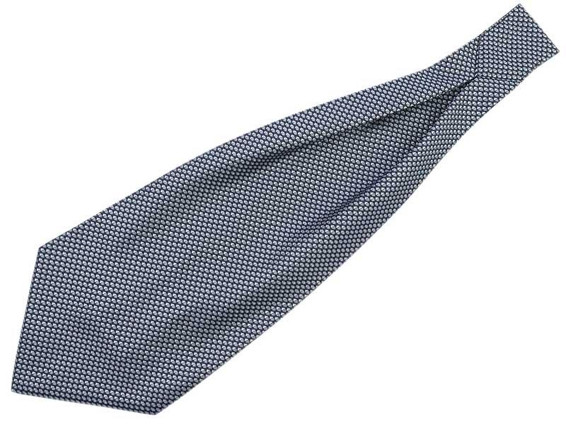 Granatowy fular w szare kwadraciki F89