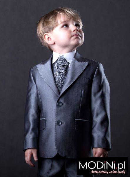 76fd6a6c7c578 Grafitowy garniturek dziecięcy. Jasno grafitowy garnitur dla dziecka