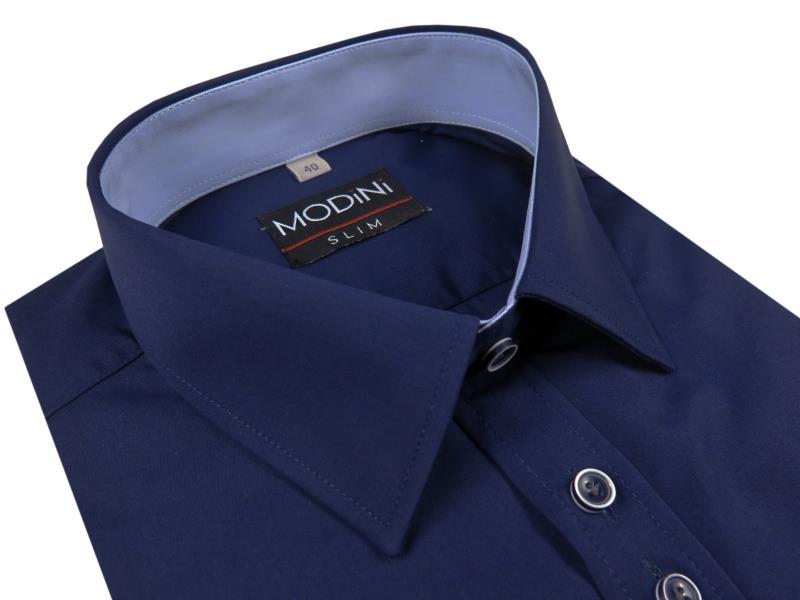 Granatowa koszula męska slim