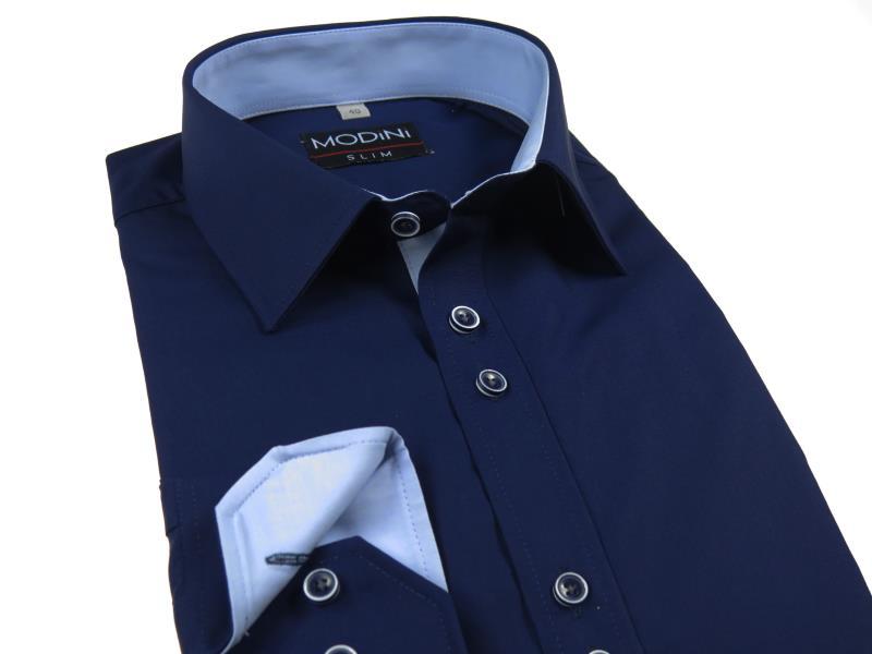 Granatowa koszula męska Modini