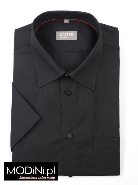 Czarna koszula krótki rękaw