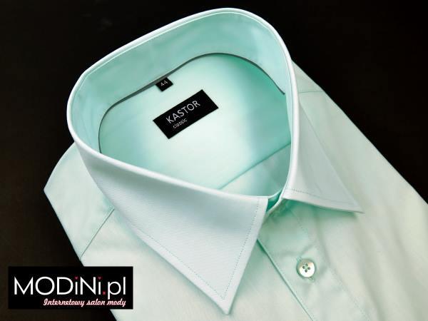 miętowa koszula męska