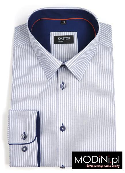 Szara koszula w paski