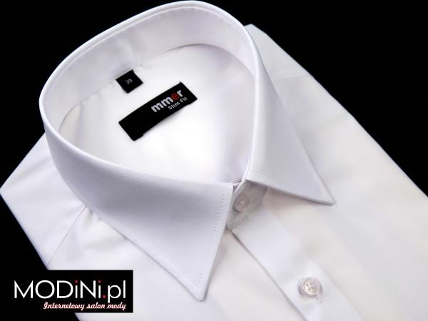 Biała koszula z krótkim rękawem