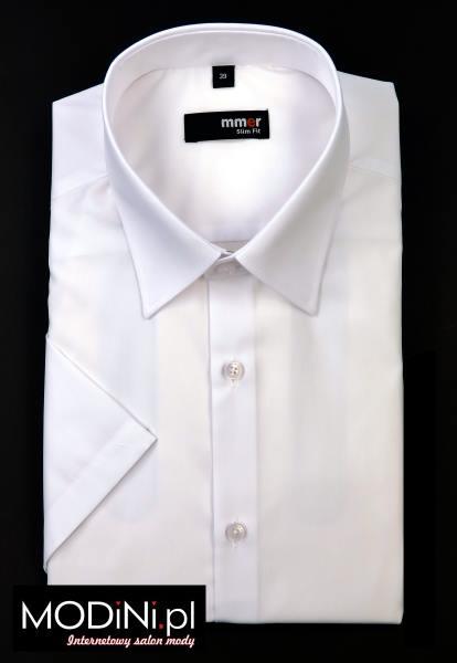 Biała koszula krótki rękaw