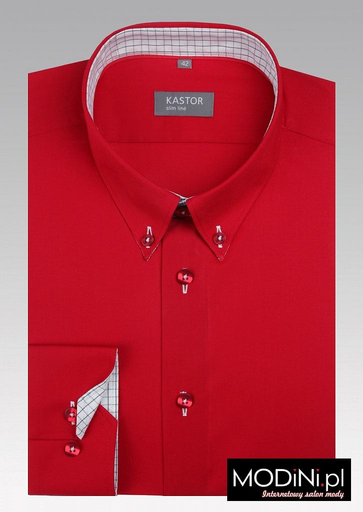 Czerwona koszula męska