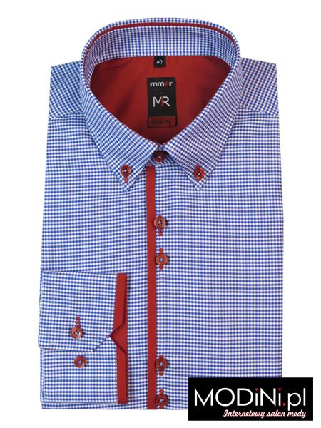 Koszula w niebieską kratkę