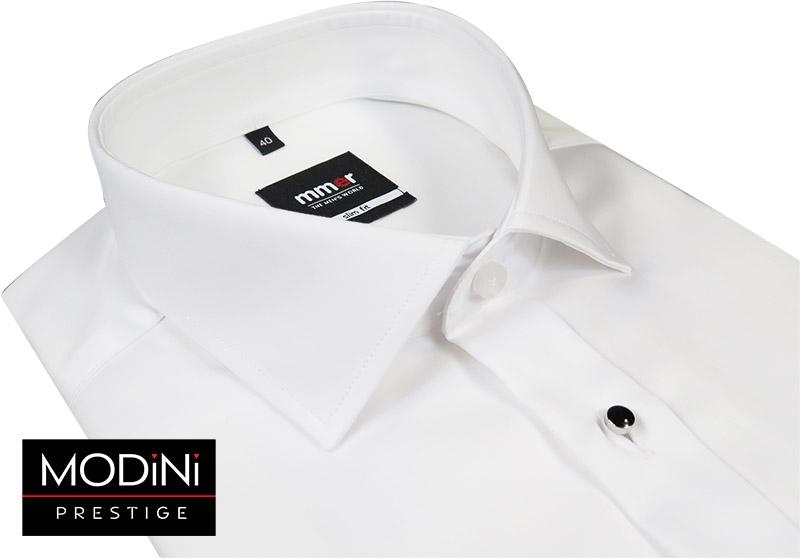 Biała koszula smokingowa z klasycznym kołnierzykiem Mmer