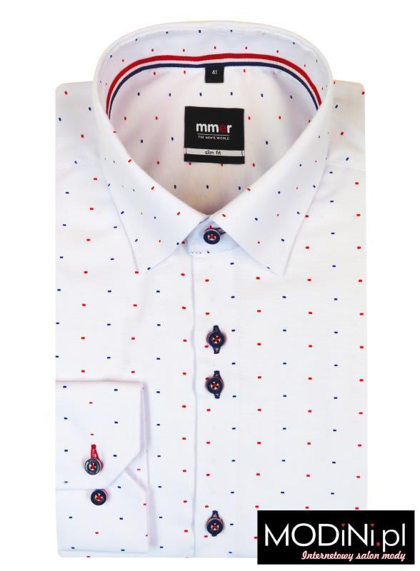 Biała koszula w kropki