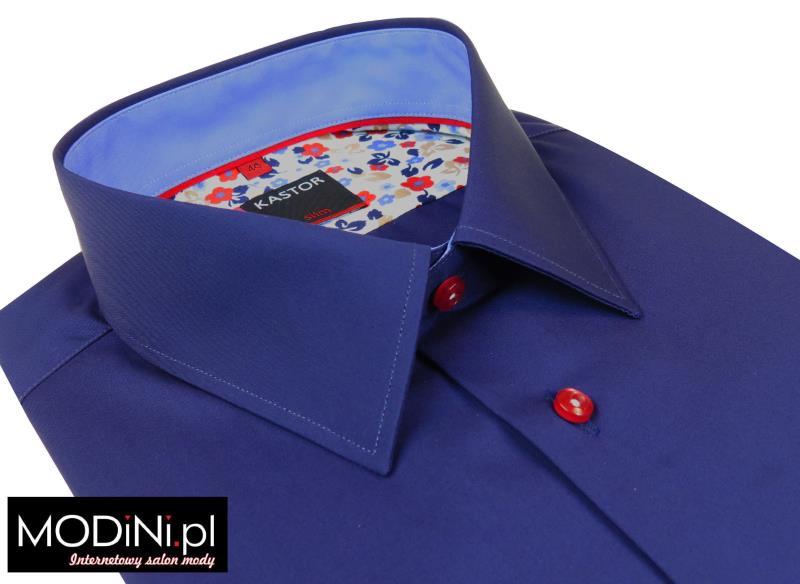 Granatowa koszula męska