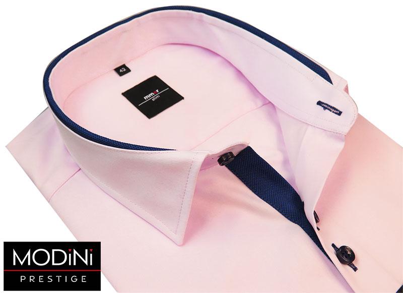 Różowa koszula męska na krótki rękaw
