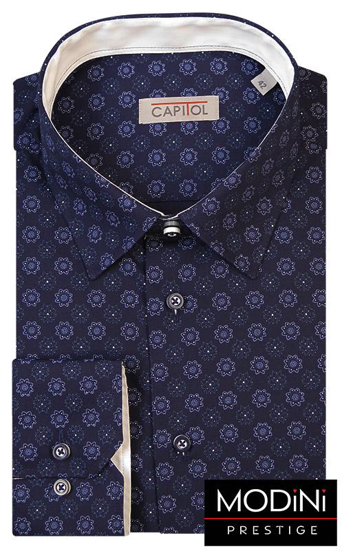 Granatowa koszula męska Capitol w kwiatki