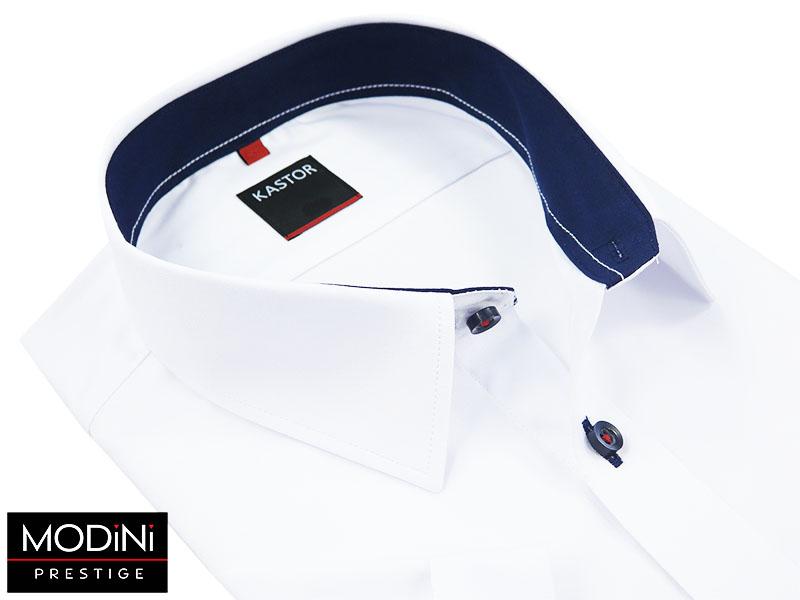 Biała koszula Kastor z krótkimi rękawami K29