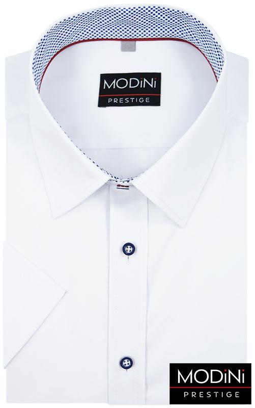 Biała koszula Modini z krótkim rękawem