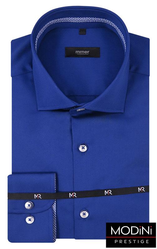 Gładka chabrowa koszula męska 222