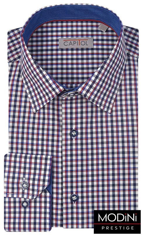 Czarno-czerwona koszula w kratkę C14