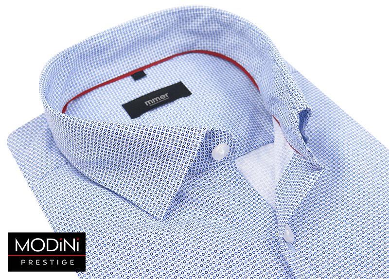 Koszula męska w delikatny niebieski wzór 533