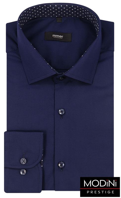 Granatowa koszula męska 302