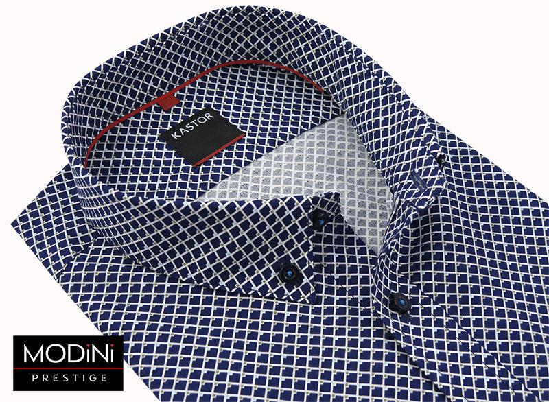 Koszula w granatowo-szare kwadraty K32