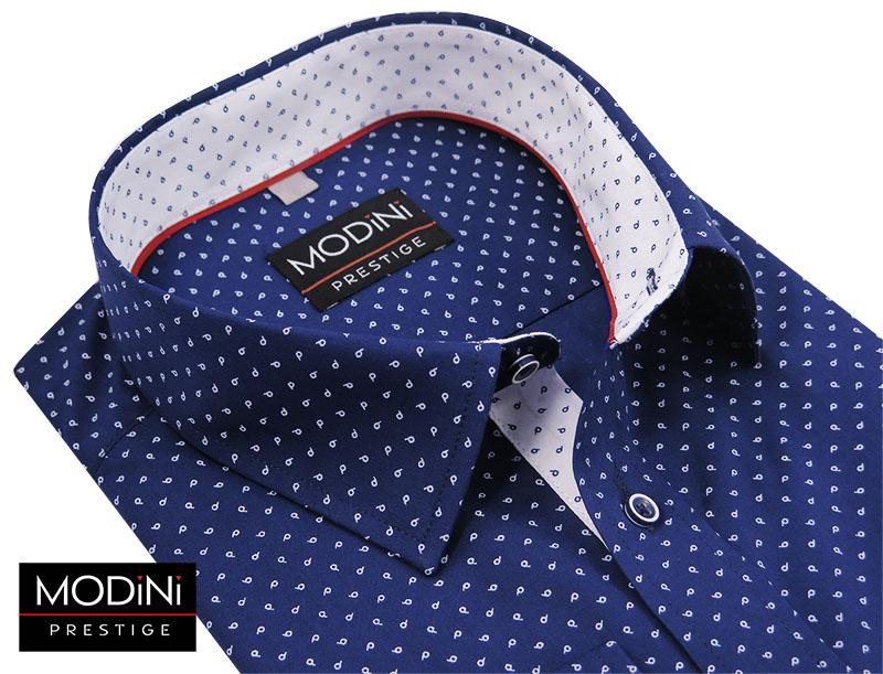 Granatowa koszula w łezki A21