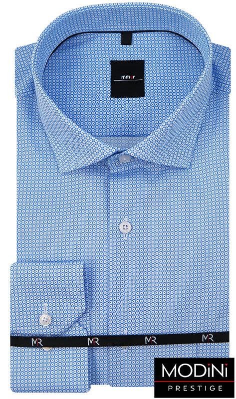 Niebieska koszula w drobne koła 467