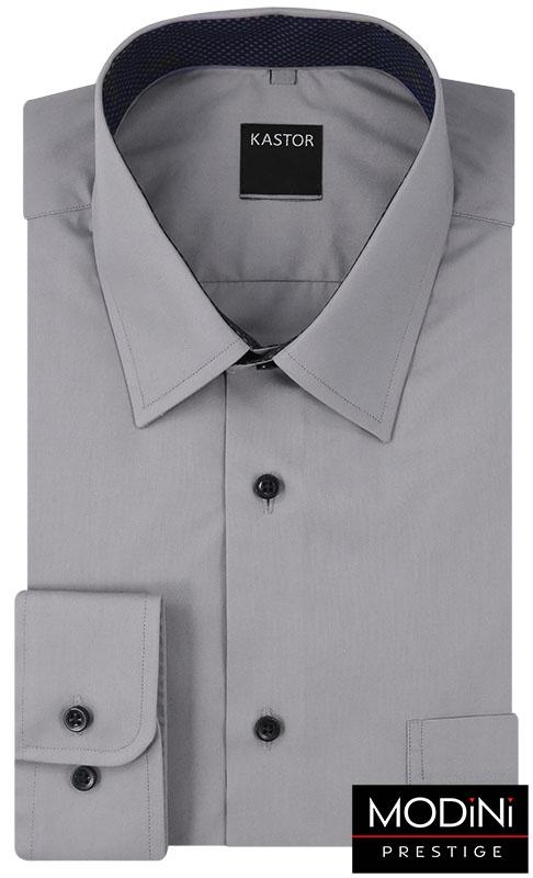 Szara koszula męska z długim rękawem K39