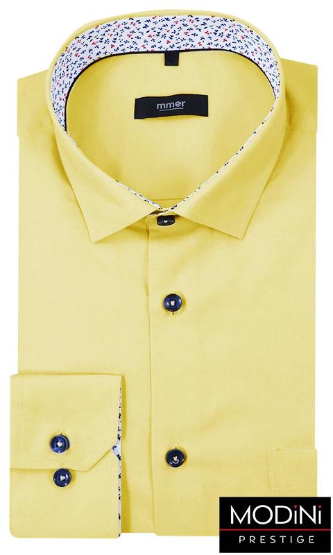 Żółta koszula męska z krótkim rękawem 347