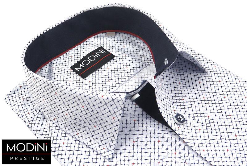 koszula wzór w kratkę i kropki modini