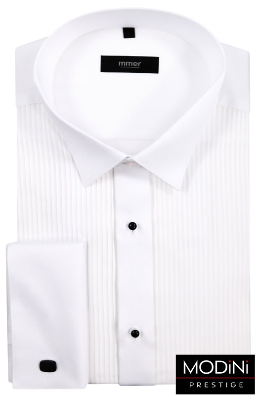 biała koszula z plisami mmer
