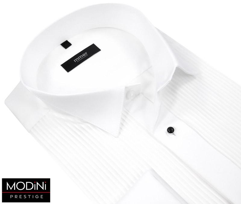 biała koszula plisowana na spinki