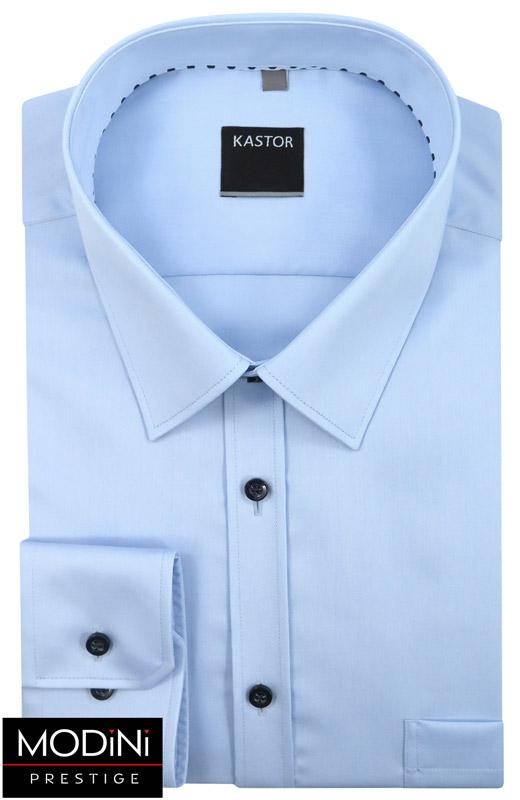 błękitna koszula męska z kieszonką