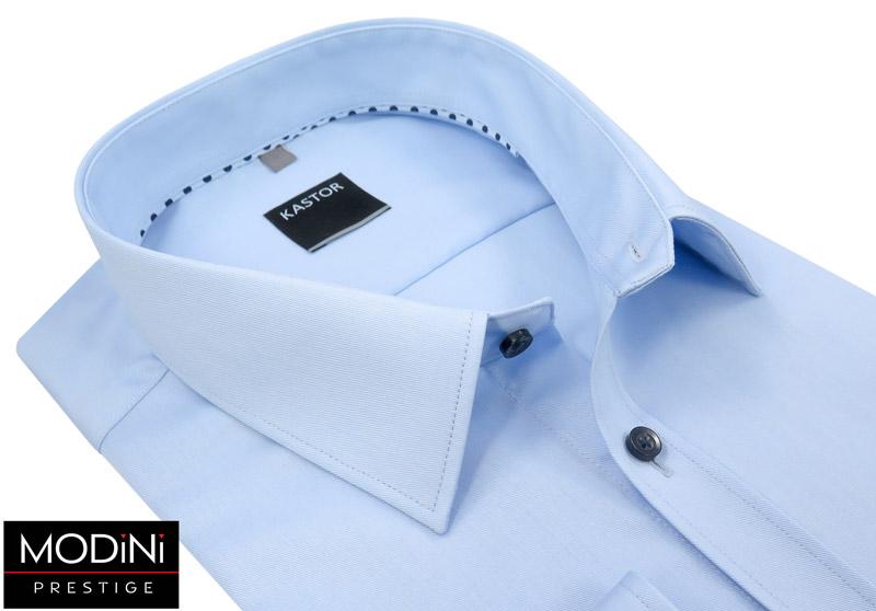 błękitna koszula męska z kiesoznką